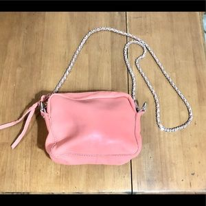 ZARA • Pink Leather • Crossbody Bag